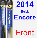 Front Wiper Blade Pack for 2014 Buick Encore - Hybrid