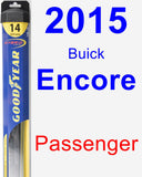 Passenger Wiper Blade for 2015 Buick Encore - Hybrid