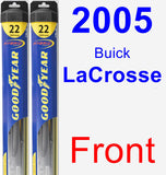 Front Wiper Blade Pack for 2005 Buick LaCrosse - Hybrid