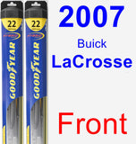 Front Wiper Blade Pack for 2007 Buick LaCrosse - Hybrid