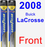 Front Wiper Blade Pack for 2008 Buick LaCrosse - Hybrid