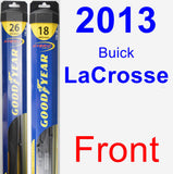 Front Wiper Blade Pack for 2013 Buick LaCrosse - Hybrid