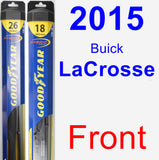 Front Wiper Blade Pack for 2015 Buick LaCrosse - Hybrid