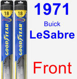 Front Wiper Blade Pack for 1971 Buick LeSabre - Hybrid