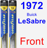 Front Wiper Blade Pack for 1972 Buick LeSabre - Hybrid