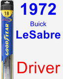 Driver Wiper Blade for 1972 Buick LeSabre - Hybrid