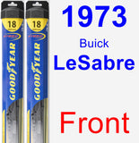 Front Wiper Blade Pack for 1973 Buick LeSabre - Hybrid