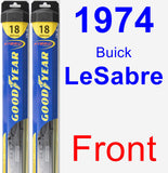 Front Wiper Blade Pack for 1974 Buick LeSabre - Hybrid
