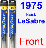 Front Wiper Blade Pack for 1975 Buick LeSabre - Hybrid