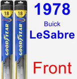 Front Wiper Blade Pack for 1978 Buick LeSabre - Hybrid