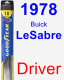 Driver Wiper Blade for 1978 Buick LeSabre - Hybrid