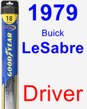 Driver Wiper Blade for 1979 Buick LeSabre - Hybrid
