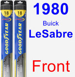 Front Wiper Blade Pack for 1980 Buick LeSabre - Hybrid
