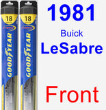 Front Wiper Blade Pack for 1981 Buick LeSabre - Hybrid