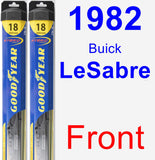 Front Wiper Blade Pack for 1982 Buick LeSabre - Hybrid