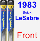 Front Wiper Blade Pack for 1983 Buick LeSabre - Hybrid