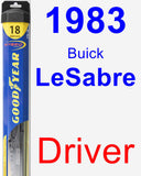 Driver Wiper Blade for 1983 Buick LeSabre - Hybrid