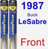 Front Wiper Blade Pack for 1987 Buick LeSabre - Hybrid