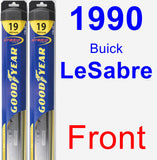 Front Wiper Blade Pack for 1990 Buick LeSabre - Hybrid