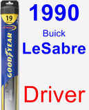 Driver Wiper Blade for 1990 Buick LeSabre - Hybrid