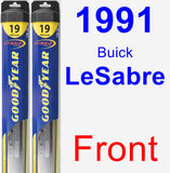 Front Wiper Blade Pack for 1991 Buick LeSabre - Hybrid