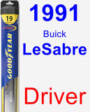 Driver Wiper Blade for 1991 Buick LeSabre - Hybrid