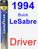 Driver Wiper Blade for 1994 Buick LeSabre - Hybrid