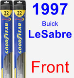 Front Wiper Blade Pack for 1997 Buick LeSabre - Hybrid