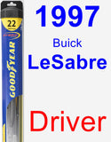 Driver Wiper Blade for 1997 Buick LeSabre - Hybrid