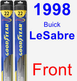 Front Wiper Blade Pack for 1998 Buick LeSabre - Hybrid