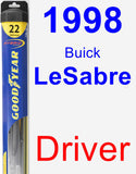 Driver Wiper Blade for 1998 Buick LeSabre - Hybrid