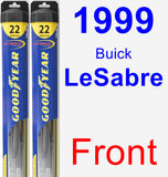 Front Wiper Blade Pack for 1999 Buick LeSabre - Hybrid