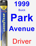 Driver Wiper Blade for 1999 Buick Park Avenue - Hybrid