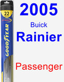Passenger Wiper Blade for 2005 Buick Rainier - Hybrid