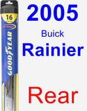 Rear Wiper Blade for 2005 Buick Rainier - Hybrid