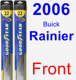 Front Wiper Blade Pack for 2006 Buick Rainier - Hybrid