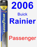 Passenger Wiper Blade for 2006 Buick Rainier - Hybrid