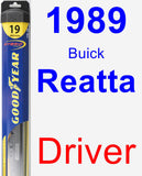 Driver Wiper Blade for 1989 Buick Reatta - Hybrid
