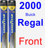 Front Wiper Blade Pack for 2000 Buick Regal - Hybrid
