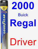 Driver Wiper Blade for 2000 Buick Regal - Hybrid