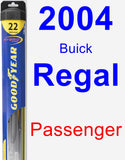 Passenger Wiper Blade for 2004 Buick Regal - Hybrid