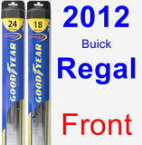 Front Wiper Blade Pack for 2012 Buick Regal - Hybrid
