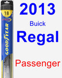 Passenger Wiper Blade for 2013 Buick Regal - Hybrid