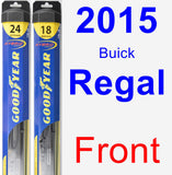 Front Wiper Blade Pack for 2015 Buick Regal - Hybrid