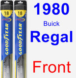 Front Wiper Blade Pack for 1980 Buick Regal - Hybrid
