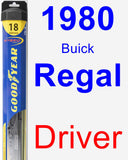 Driver Wiper Blade for 1980 Buick Regal - Hybrid