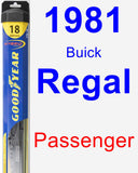Passenger Wiper Blade for 1981 Buick Regal - Hybrid