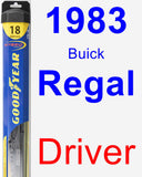 Driver Wiper Blade for 1983 Buick Regal - Hybrid