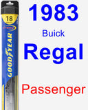 Passenger Wiper Blade for 1983 Buick Regal - Hybrid