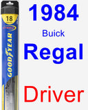 Driver Wiper Blade for 1984 Buick Regal - Hybrid